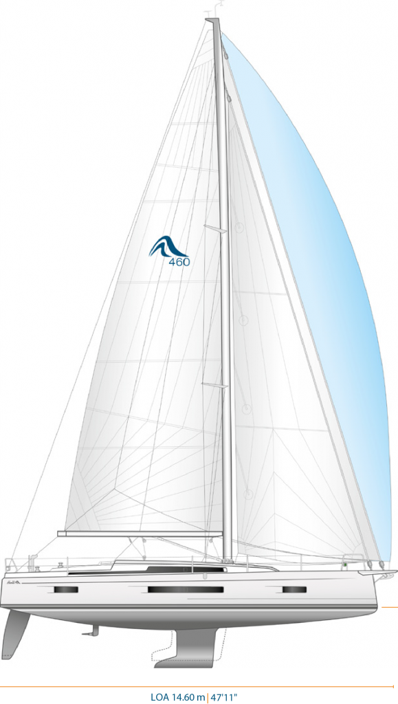 Hanse 460 boat model